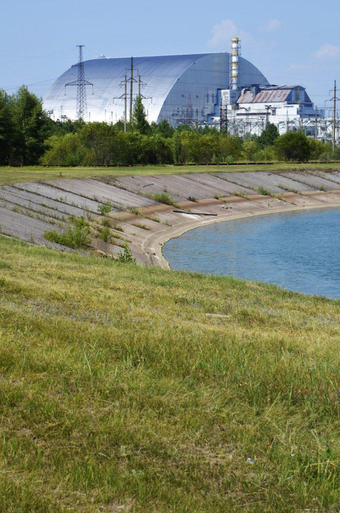 Il reattore numero 4 della centrale nucleare di Chernobyl.