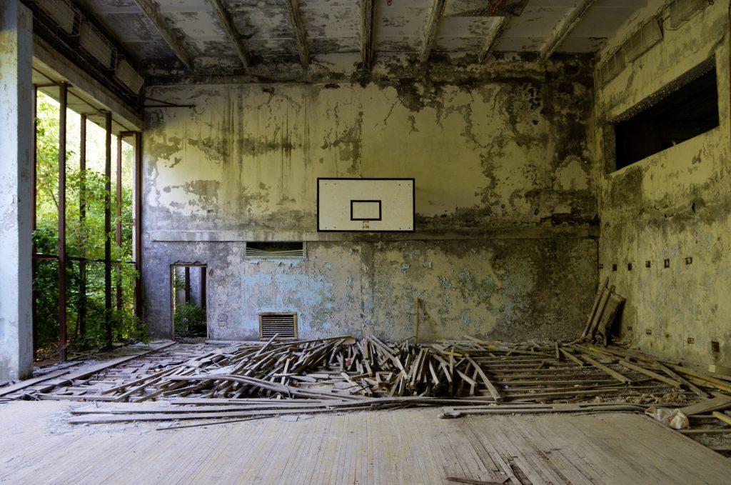 La palestra abbandonata di Pripyat