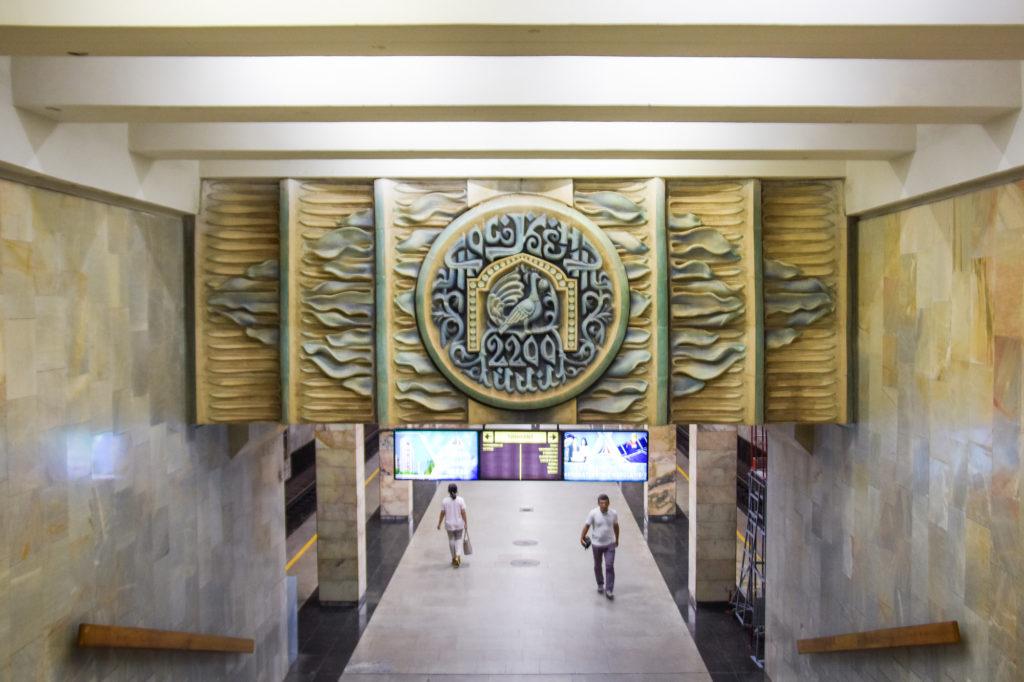 Stazione della metro di Tashkent, Uzbekistan