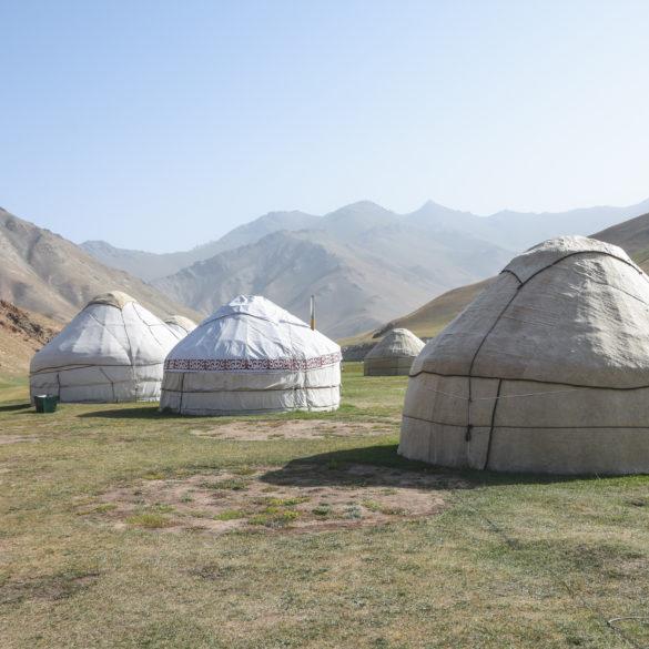 Dormire in yurta in Kirghizistan