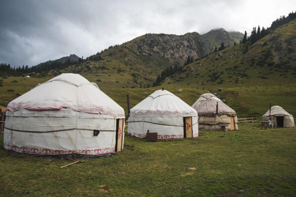 Yurte in Kirghizistan, Asia Centrale